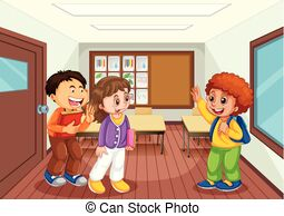 Classroom scene Clipart and Stock Illustrations. 1,162 Classroom.