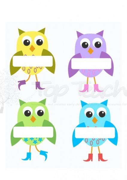 Colorful Owl Classroom Decorations ~ Classroom sea animal name tag clipart clipground