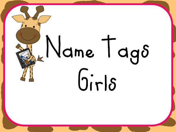 Classroom Name Tag Clipart.