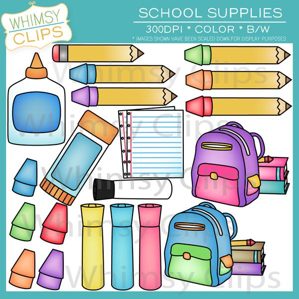 School Supplies Clip Art.