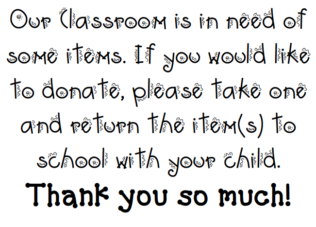 What the Teacher Wants!: Classroom Supplies.