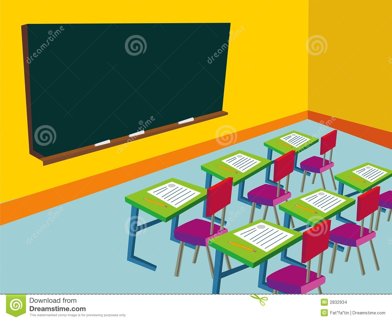 Classroom Cartoon Stock Illustrations.