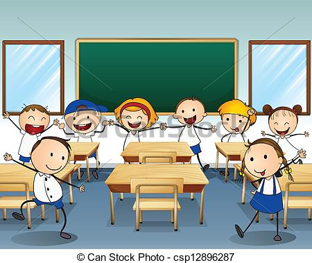 children cleaning classroom clipart #2