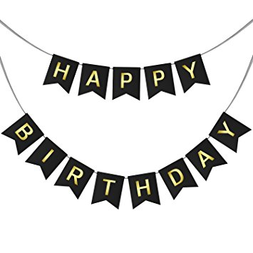 Amazon.com: Happy Birthday Swallowtail Bunting Banner for Party.