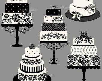 Classy Birthday Cake Clipart.