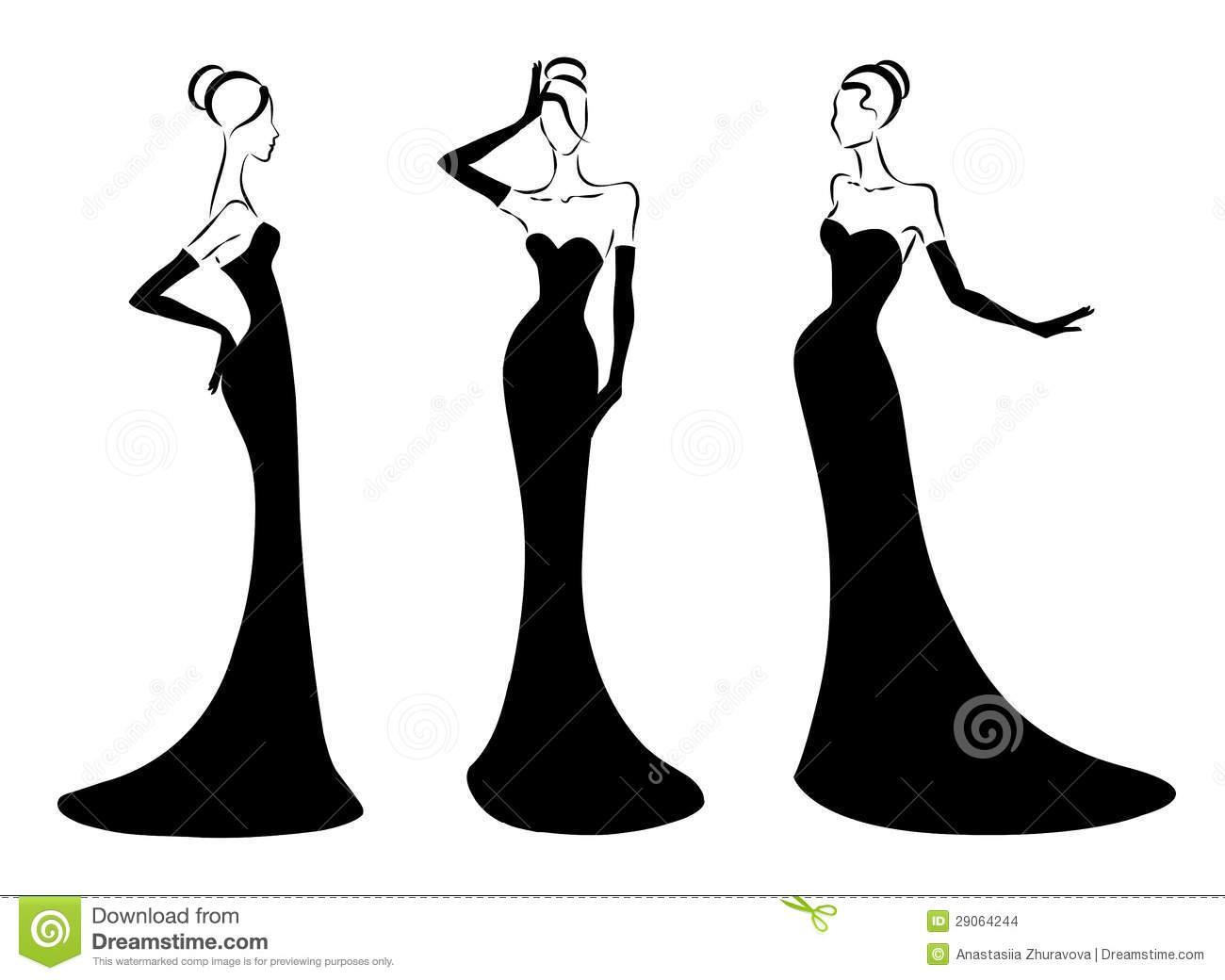 Elegant Woman Clipart.