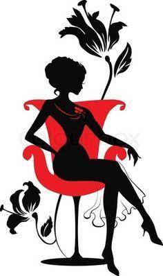 elegant lady silhouette.
