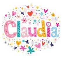 Projeto DE Nome Claudia imagens vetoriais.