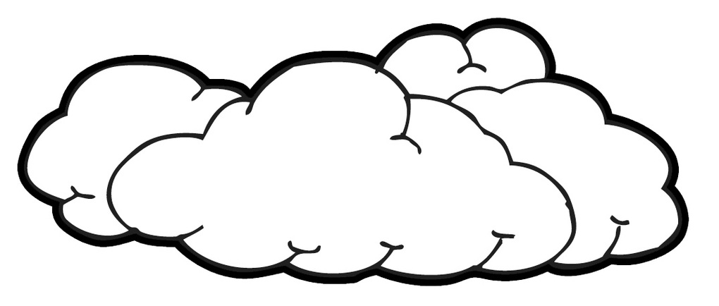 Black and white clouds clipart.