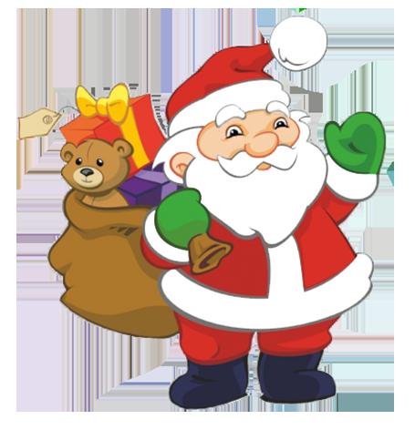 santa clipart png #12
