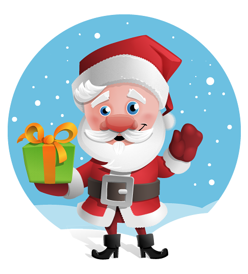 Free to Use & Public Domain Santa Claus Clip Art.
