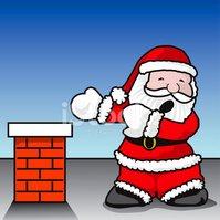 Santa Claustrophobia stock vectors.