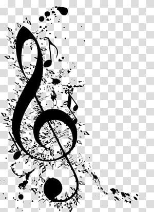 Musical note Clef Clave de sol, musical note transparent.