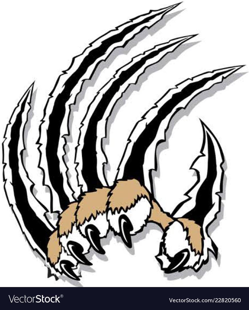 Cat claw logo mascot.