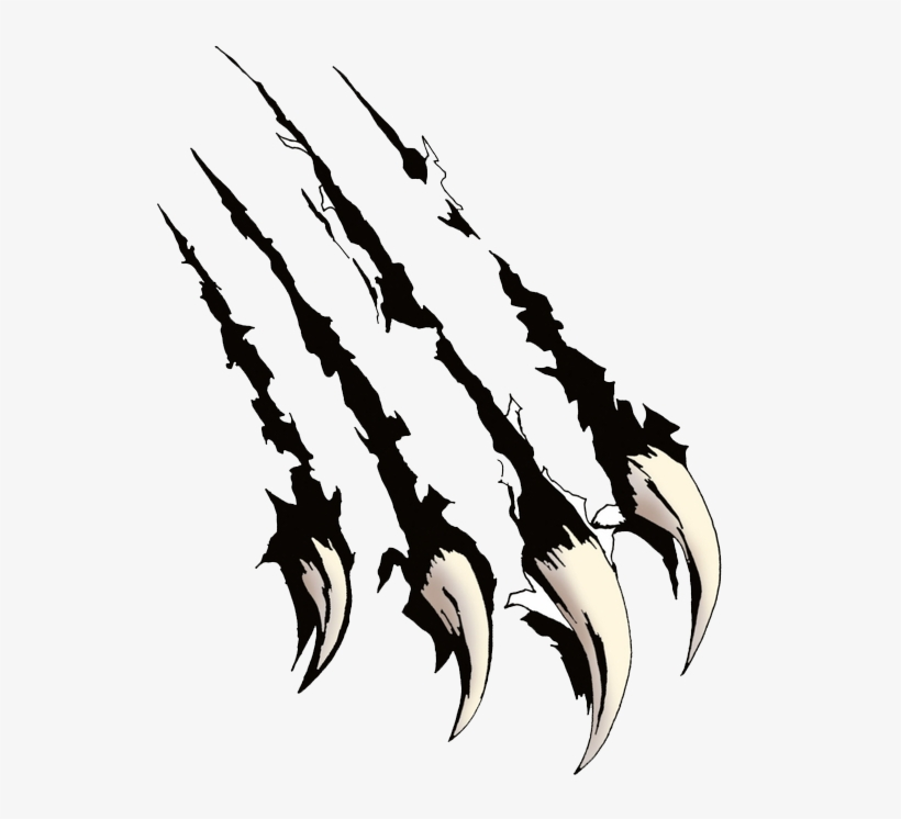 Black Claw Scratches Png.