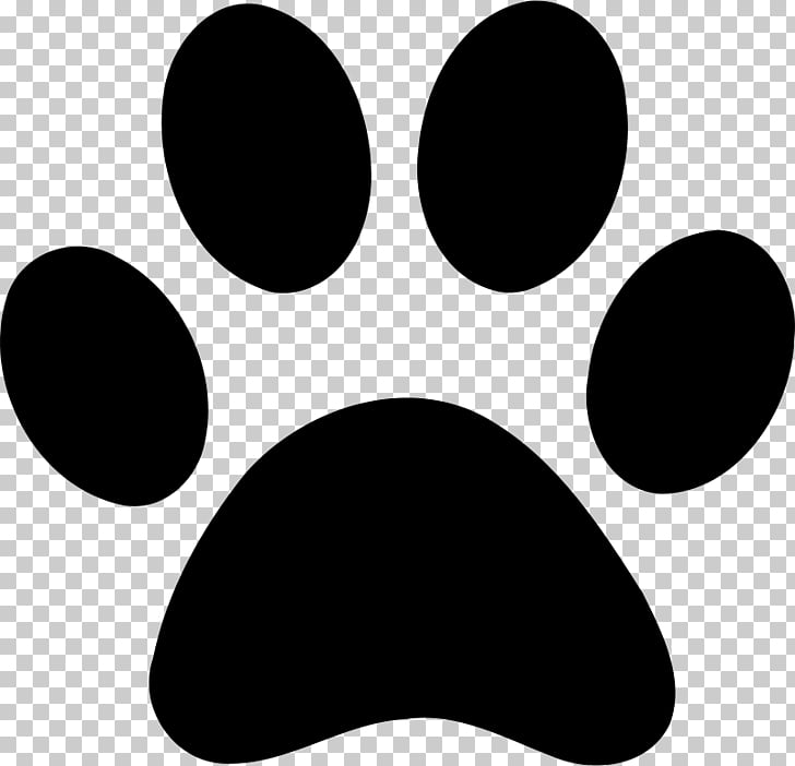 Paw Bear Cat , Black claws, Paw foot print illustration PNG.