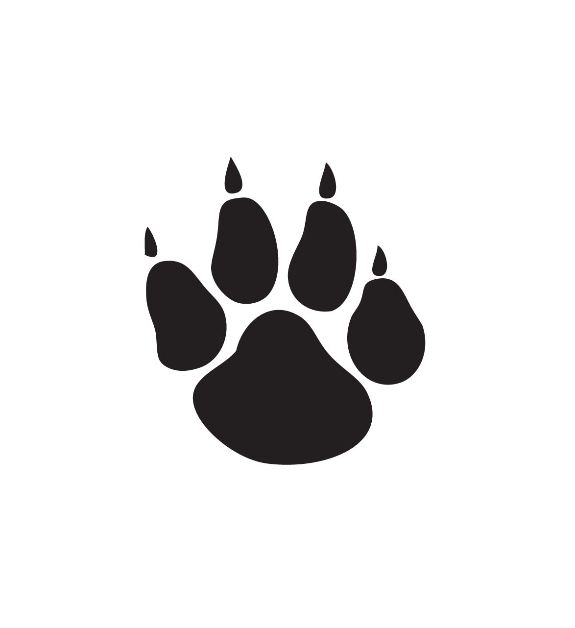 Clipart of the animal paw print free image.