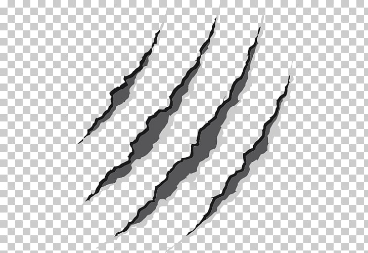 Claw Drawing , claw, gray scratch rip PNG clipart.