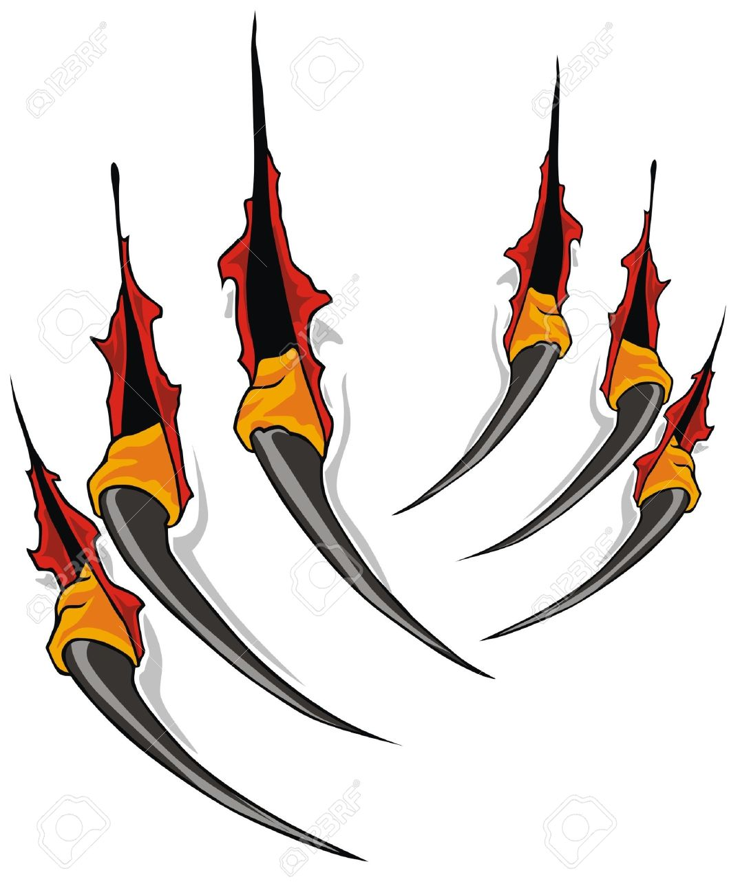 Claws Scratches Vector Royalty Free Cliparts, Vectors, And Stock.