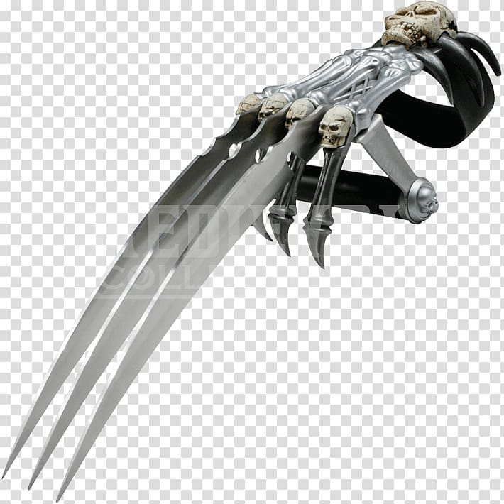 Dagger Weapon Knife Claw Sword, wolverine claws transparent.