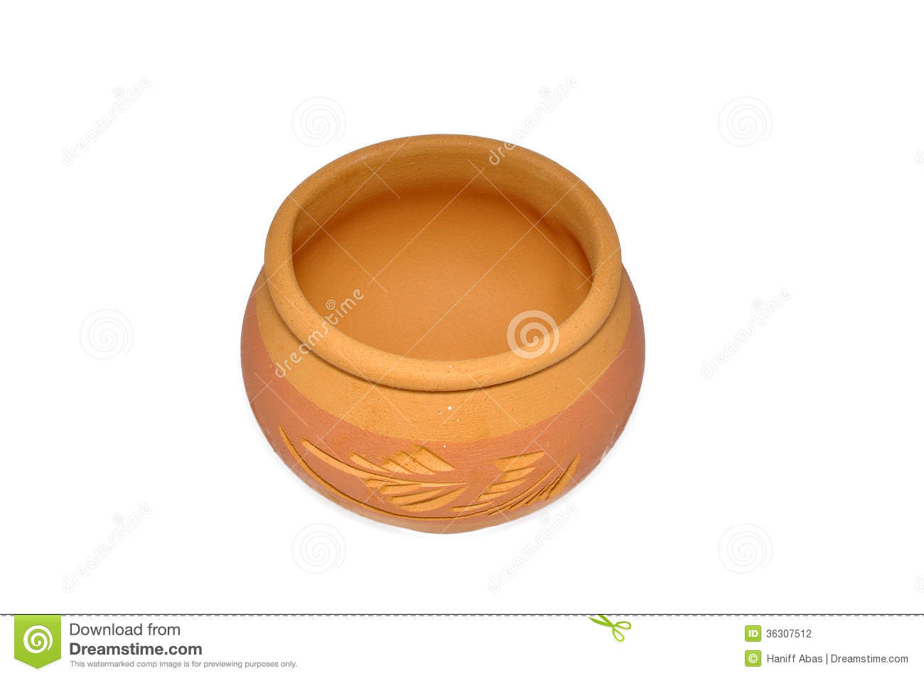 Clay water pot clipart.