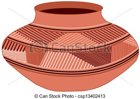 Vector Clip Art of Clay pot.
