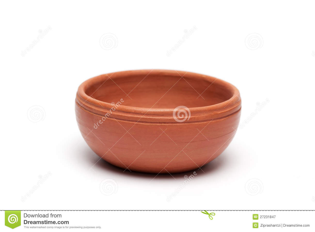 Soft Clay Pot : Bowl Royalty Free Stock Photography.