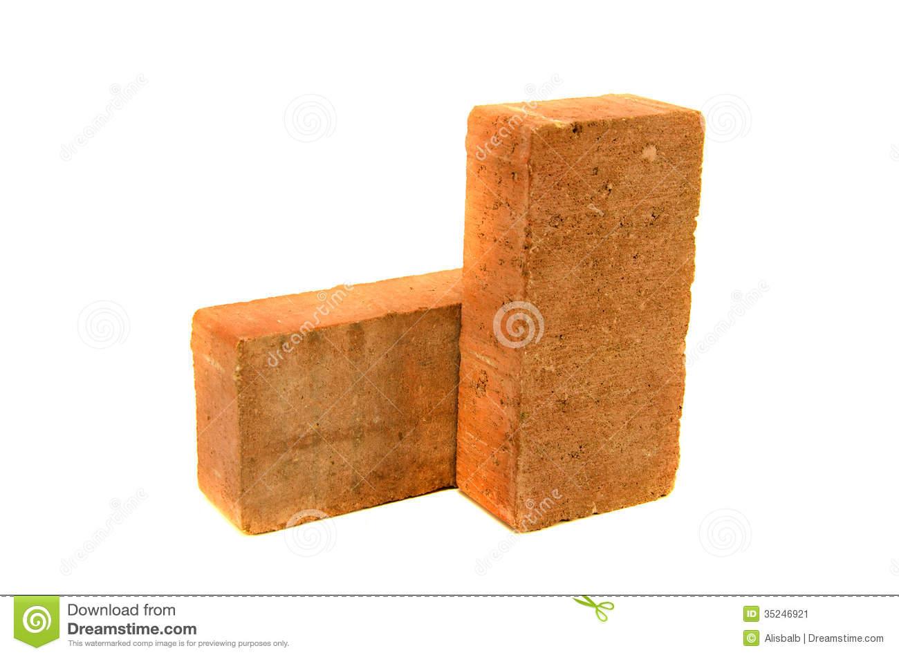 Single Brick Clip Art Red Clay Brick Isolated On #GA5Py5.