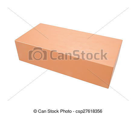 Stock Illustrations of Red clay brick isolated on a white.