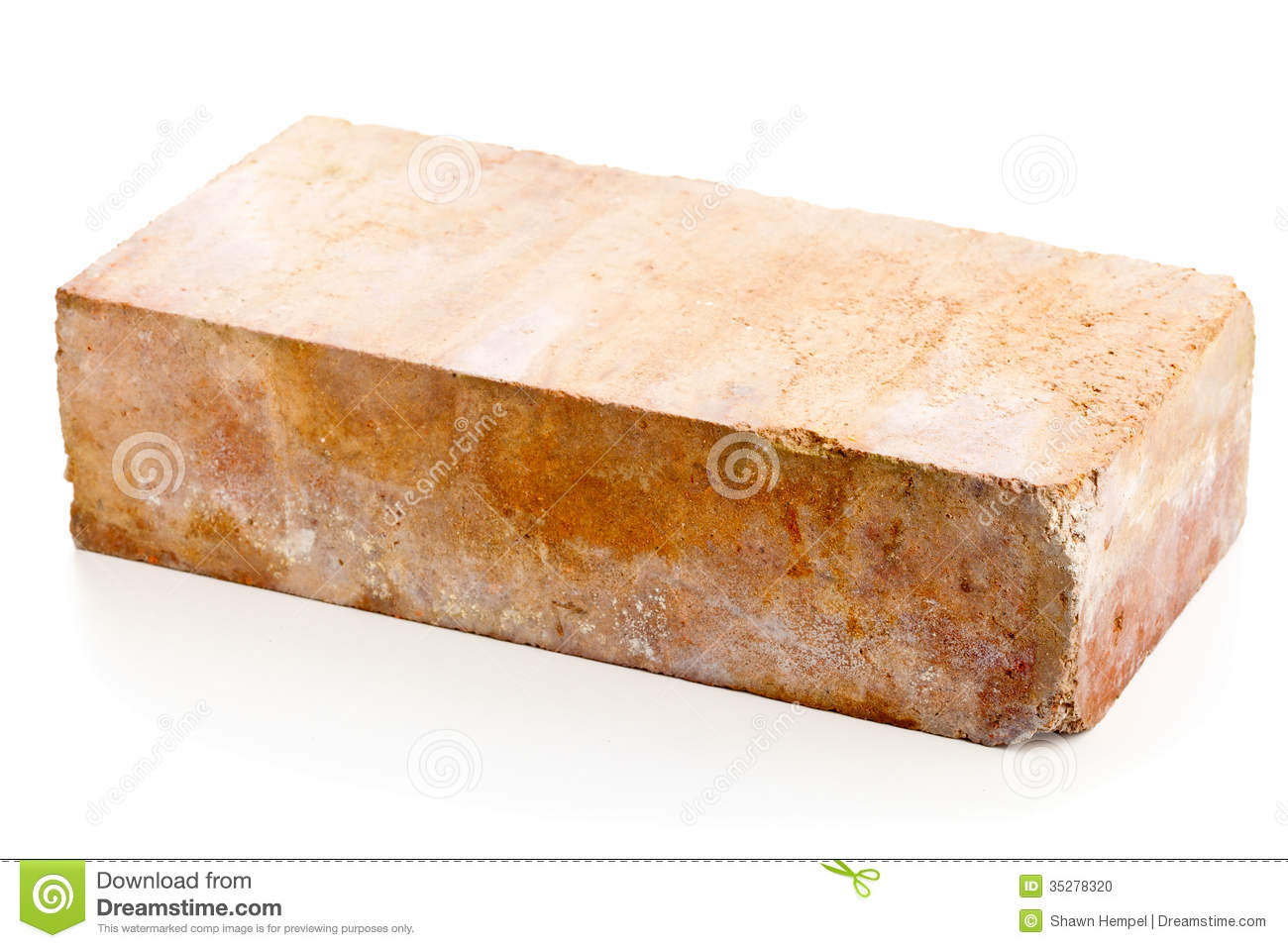Old Clay Brick Stock Photo.