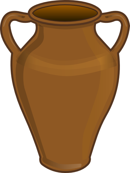 Clay jar clipart.