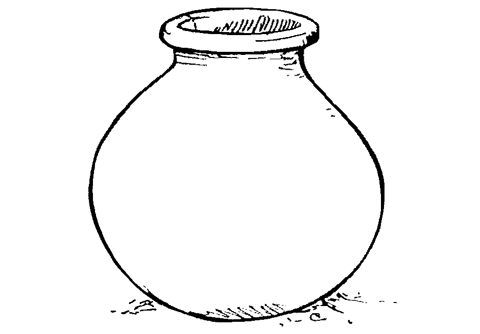 Clay Pot Clipart Black And White.