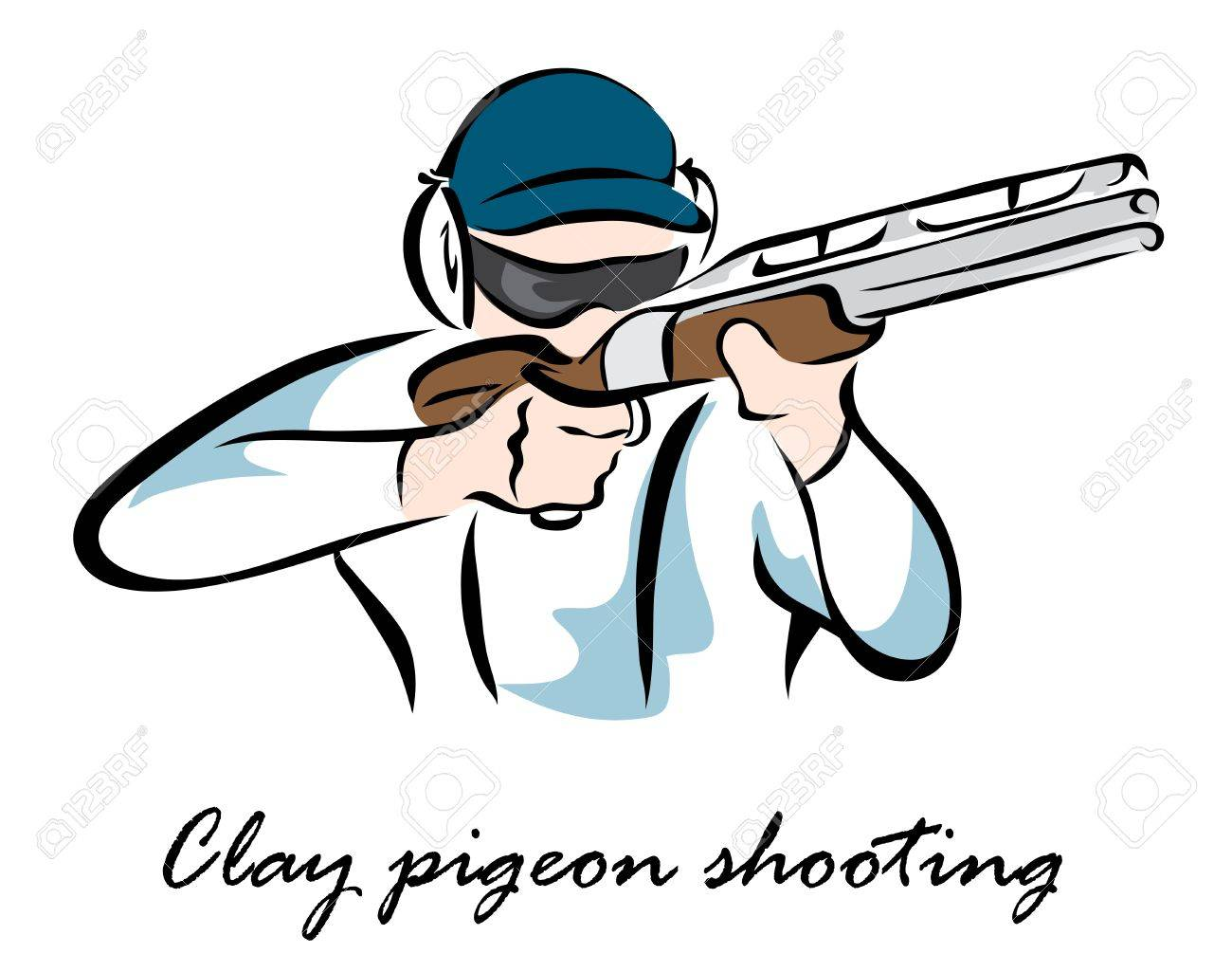 Clay pigeon shootingŒ » Clipart Station.