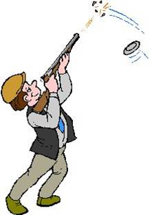 Clay pigeon shooting clipart.