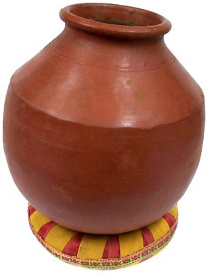 Indian clay pot clipart.