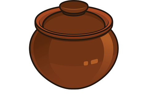 Clipart clay pot.