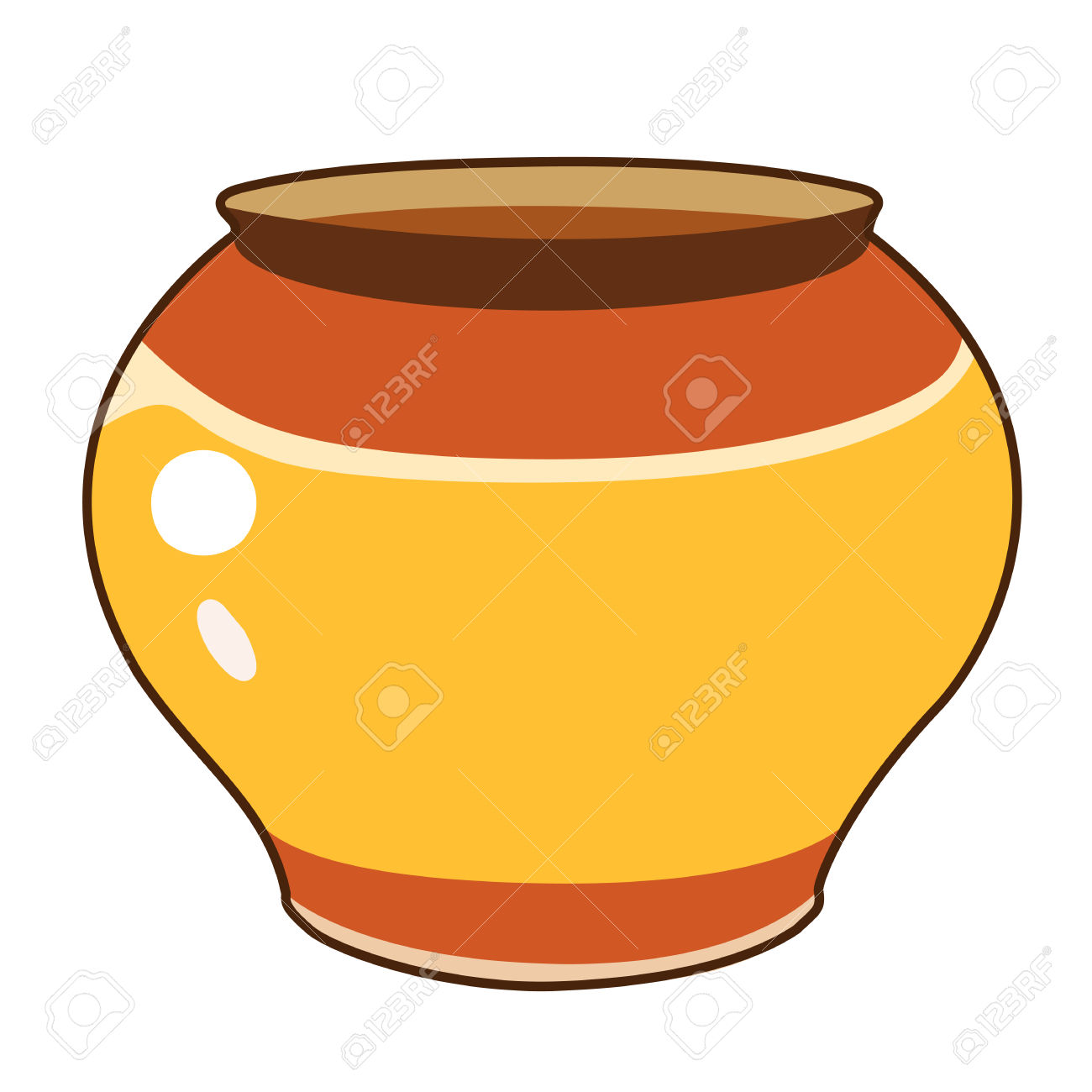 Terracotta pot clipart.