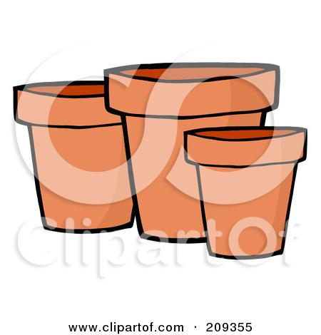Clay pots clipart #18