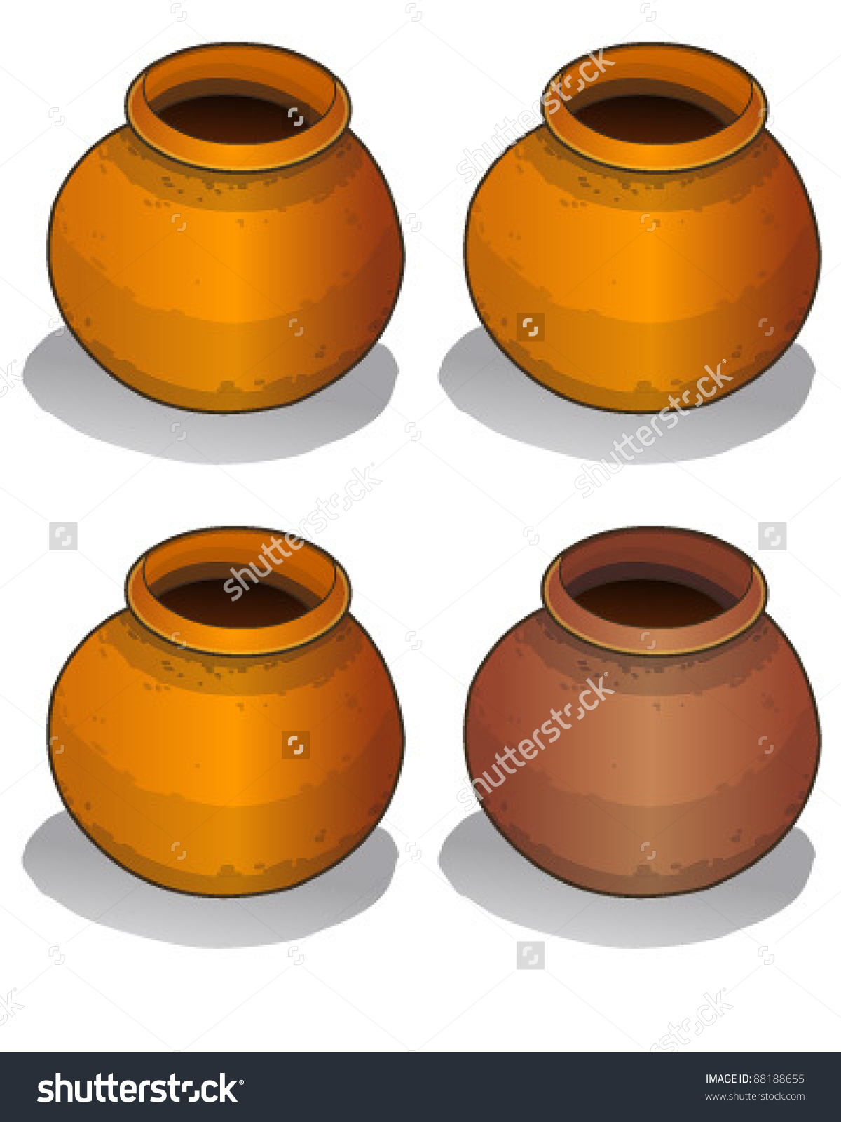 Clay pots clipart #14