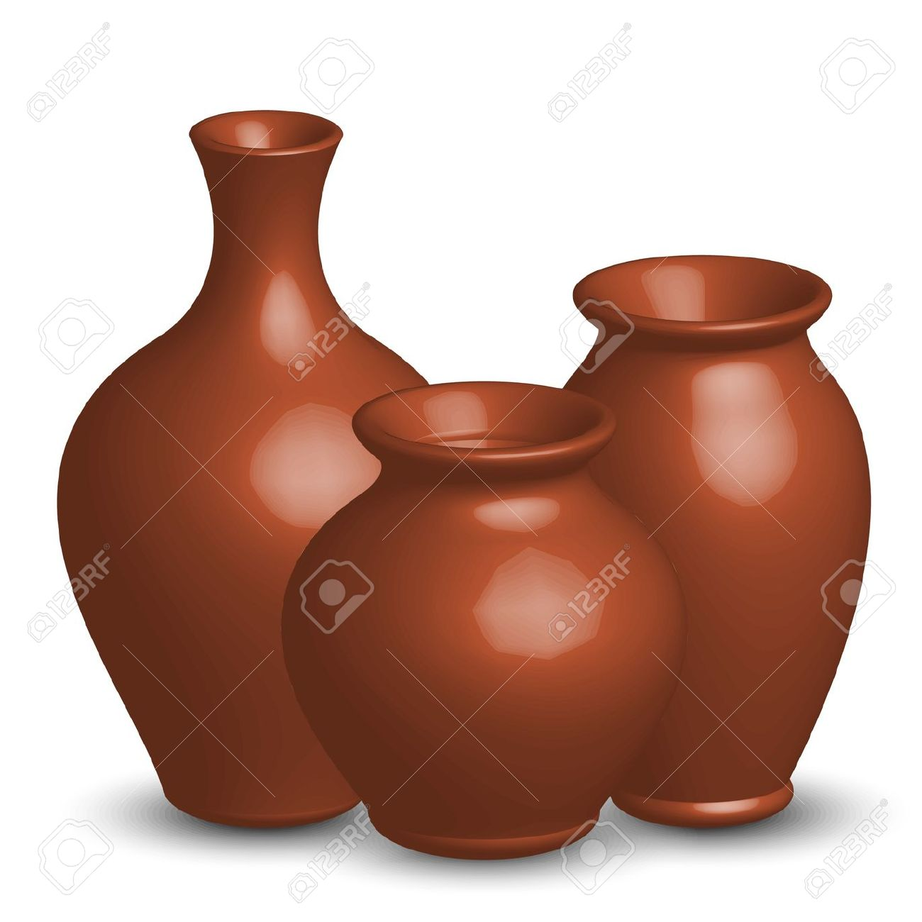 Clay pot clipart.