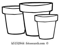 Clay pots clipart #13