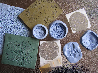 Using Dover clip art to create textures for metal clay work.