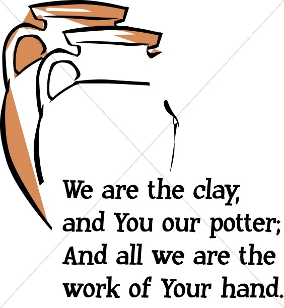 Potter and clay clipart.