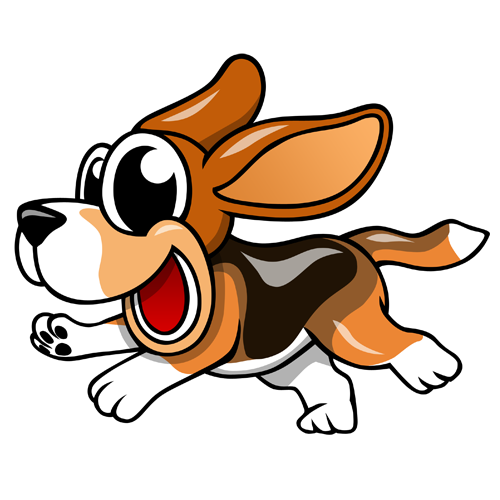 Animated beagle clipart.