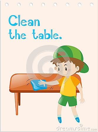 Showing post & media for Cartoon clean table.