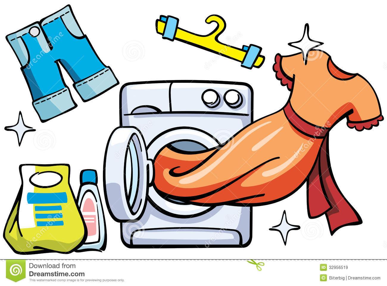Kids clothes clean clipart.