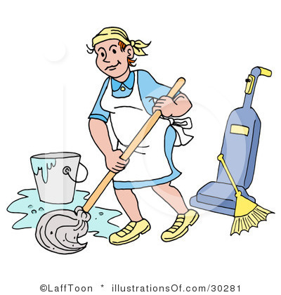 Cleaning Materials Clipart.