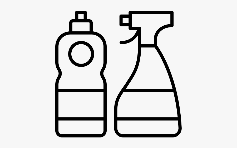 Clip Art Cleaning Supplies Clipart Black And White.