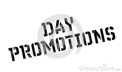 Day Promotions Rubber Stamp Stock Vector.