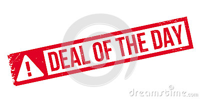 Deal Of The Day Rubber Stamp Stock Illustration.